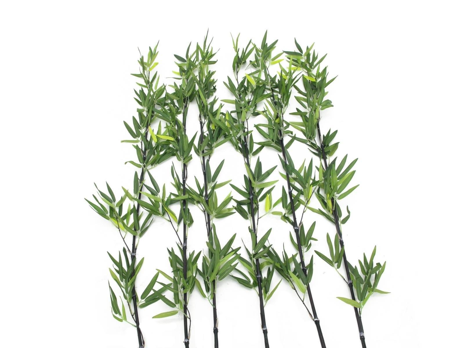 Bamboo stengel met bladeren, 180cm (6 stuks)