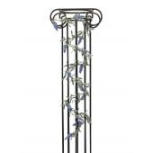 Bloeiende Guirlande, blauw,180 cm