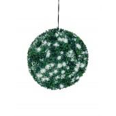 Buxus bal met witte LED's, 40cm