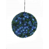 Buxus bal met blauwe LED's, 40cm