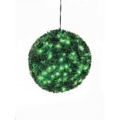 Buxus bal met groene LED's, 40cm