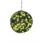 Buxus bal met gele LED's, 40cm