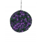 Buxus bal met paarse LED's, 40cm