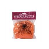 Halloween Spinnenweb oranje 50g