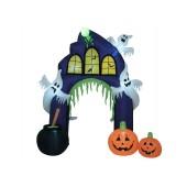 Opblaasbaar Figuur Haunted House Poort, 270cm