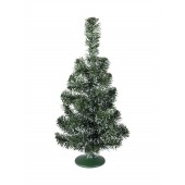 Tafel kerstboom, groen/wit, 45cm